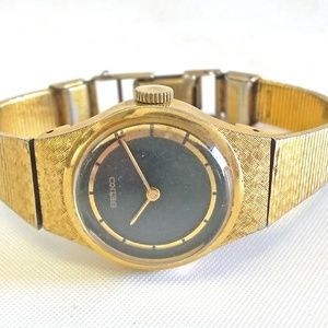 Vintage Seiko Watch Mechanical 1100-1410 Gold